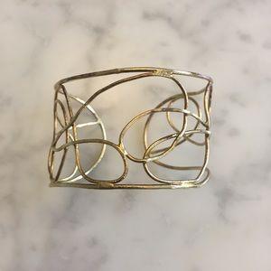 Gold Costume Swirl Design Bracelet Cuff